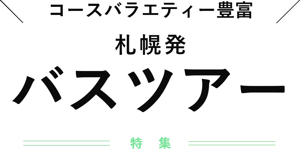 札幌発北海道観光バスツアー特集