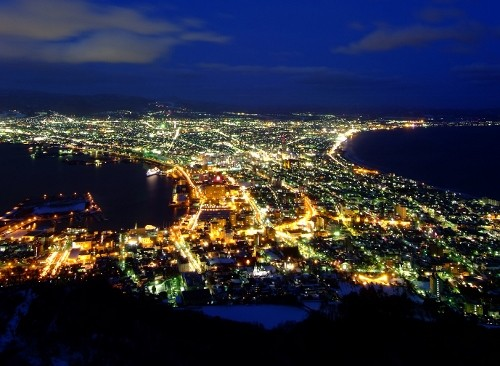 night view at Hakodate Mt.