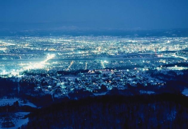 旭川・ニコラスタワーからの夜景