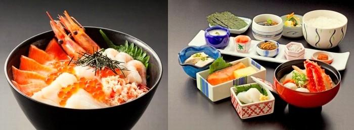 海鮮丼と和定食
