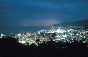 旭展望台からの夜景