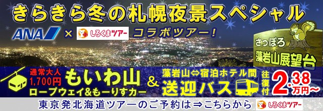 札幌・藻岩山夜景ツアー