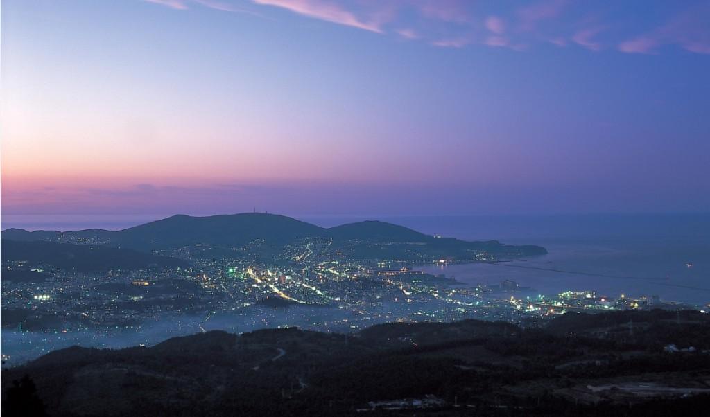 毛無山から望む小樽市内