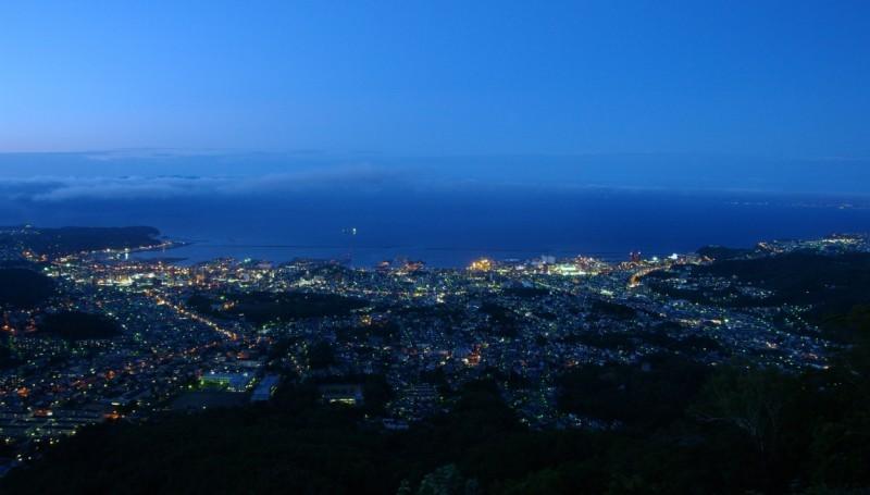 北海道三大夜景 小樽・天狗山からの夜景