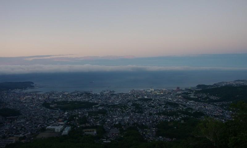 小樽の夜景【日の入り直後】