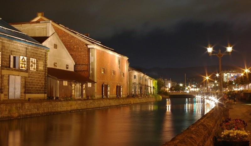 小樽運河ライトアップ