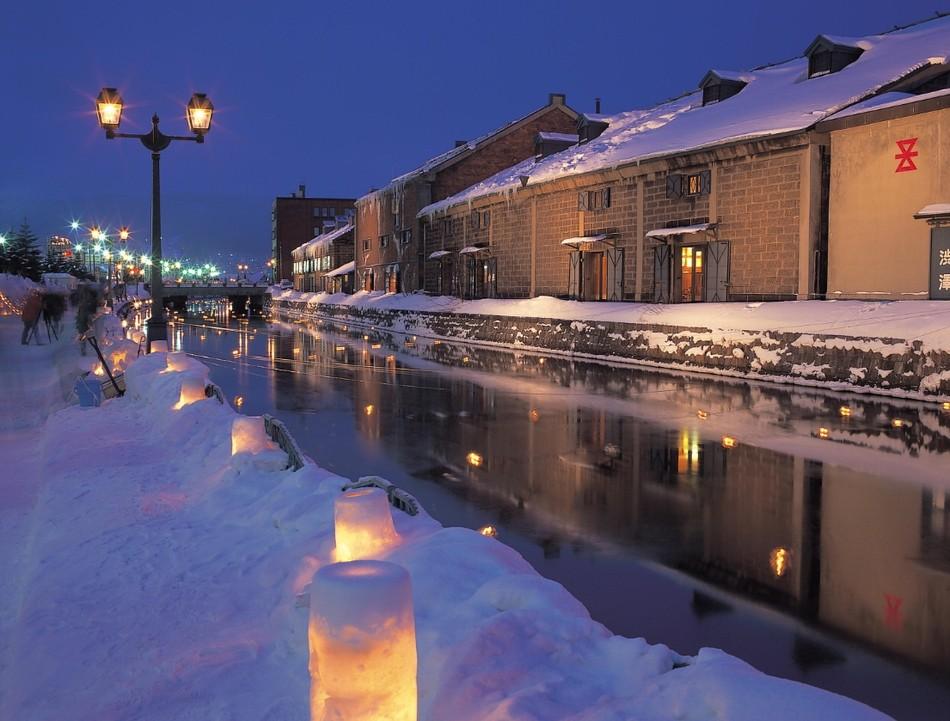 小樽 雪あかりの路 小樽運河