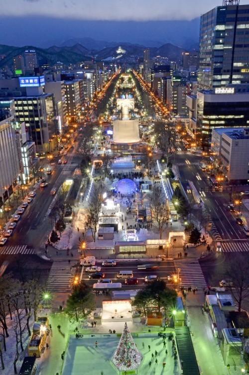 札幌テレビ塔からの夜景