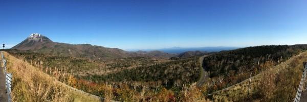 秋の知床峠