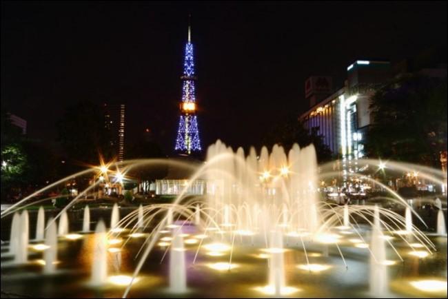 大通公園のライトアップ