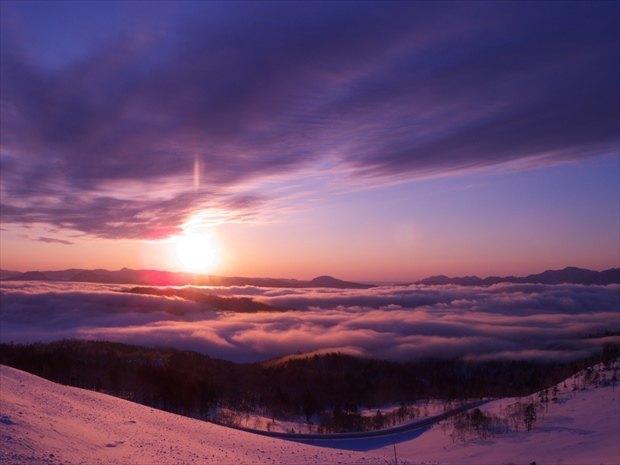 美幌峠の冬の雲海
