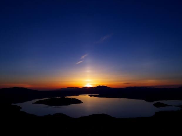 津別峠からの朝日