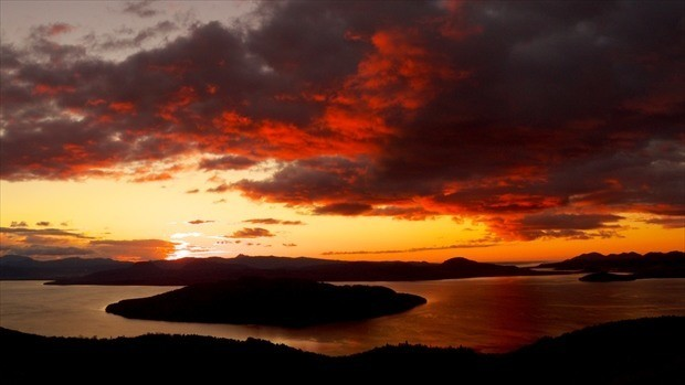 美幌峠から日の出