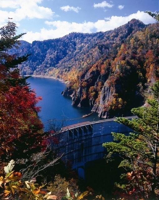 札幌・豊平峡の紅葉