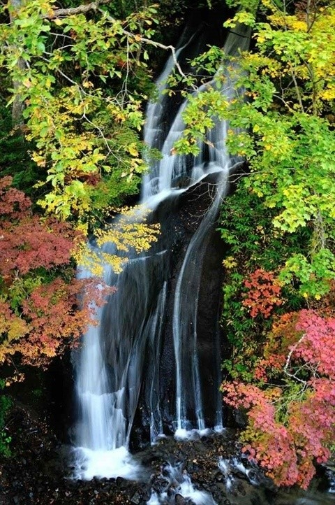 札幌・恵庭渓谷の紅葉