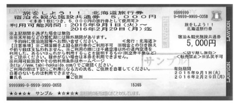 北海道旅行券イメージ