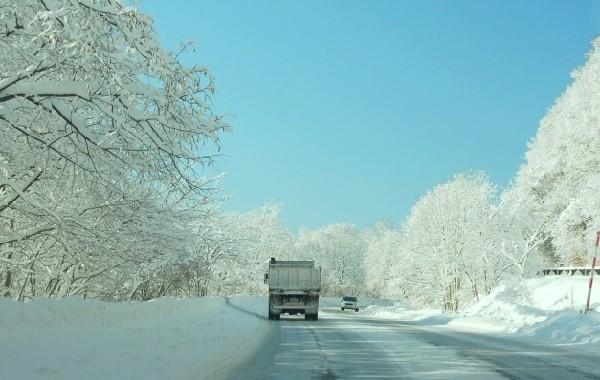 北海道 冬の峠