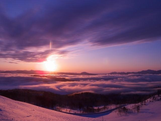 美幌峠の日の出