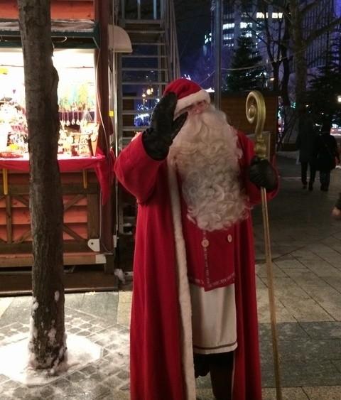 ミュンヘンクリスマス市in札幌のサンタさん
