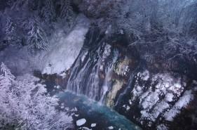美瑛・白金温泉 白ひげの滝ライトアップ、初日に行ってきました!