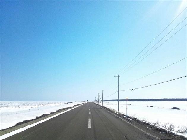 野付半島への道