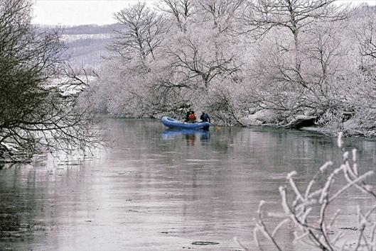 冬の釧路湿原