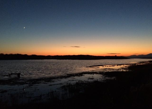 野付半島からの夕日