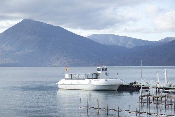 Boat on Lake Shikotsu