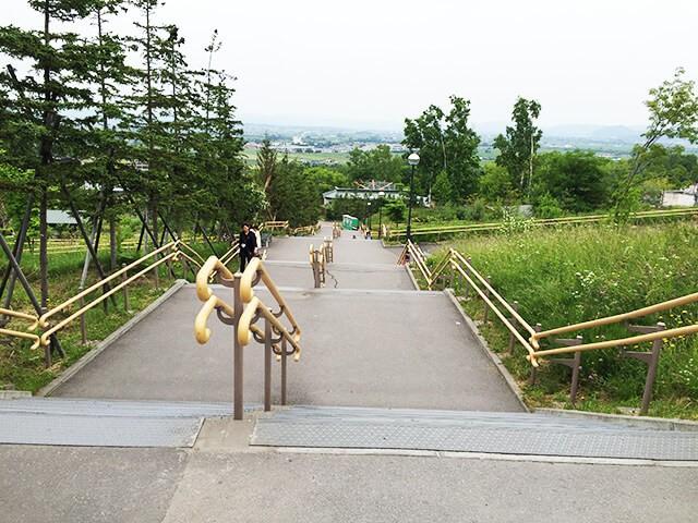 旭山動物園 階段
