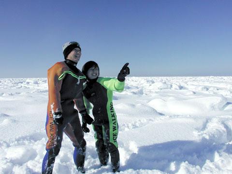 羅臼町 流氷体験