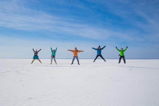 野付半島 氷平線