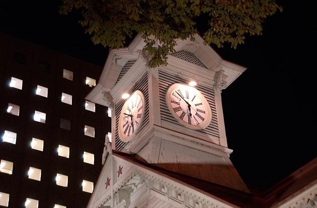 札幌市時計台 夜の外観イメージ