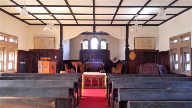 バチラー夫妻記念教会堂 礼拝堂