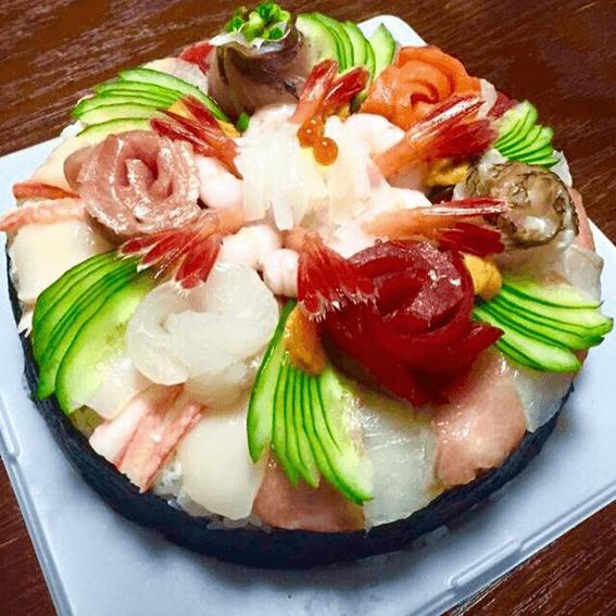 岩内 清寿司本店 寿司ケーキ