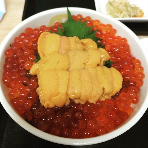 丸味屋 ウニ・イクラ丼