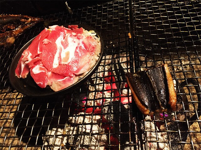 炉ばた煉瓦 ジンギスカンとハモ
