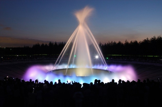 モエレ公園 海の噴水 ライトアップ