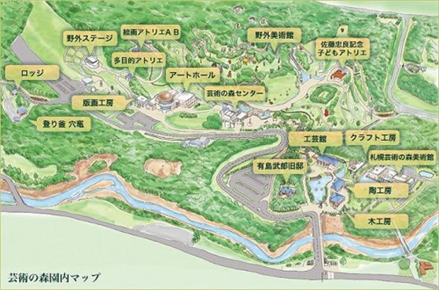 札幌芸術の森 地図