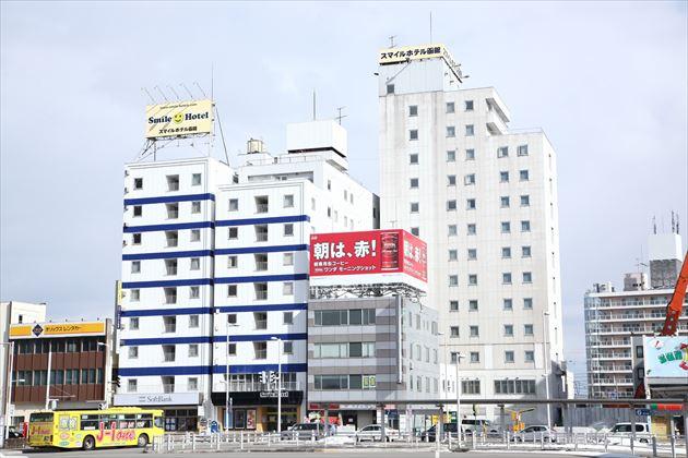 スマイルホテル函館外観