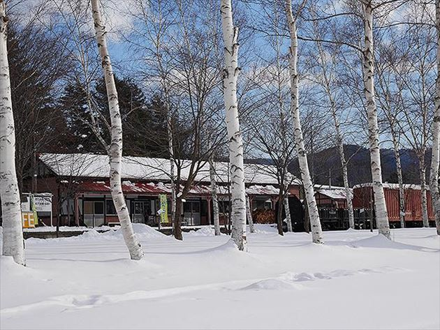 駅舎Cafe くるみの森外観
