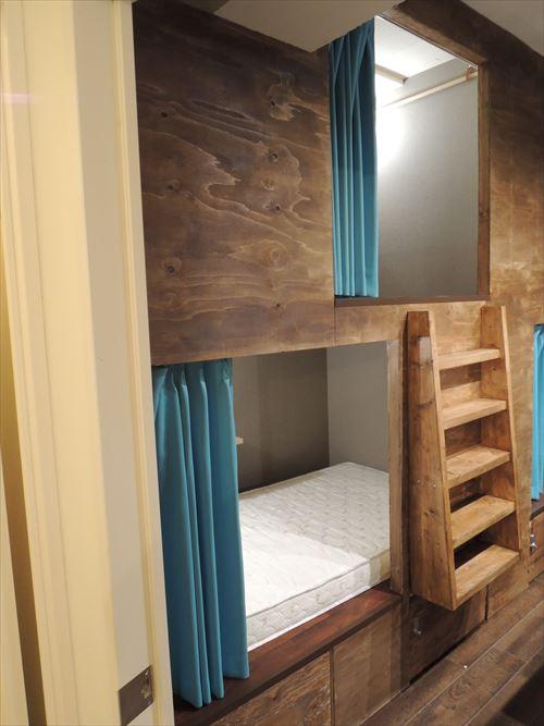 ゲストハウスのベッド