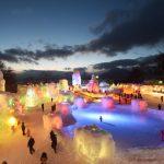 『支笏湖氷濤まつり』で幻想的な氷の世界を楽しむ