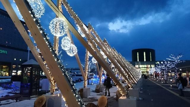 函館駅前のイルミネーション