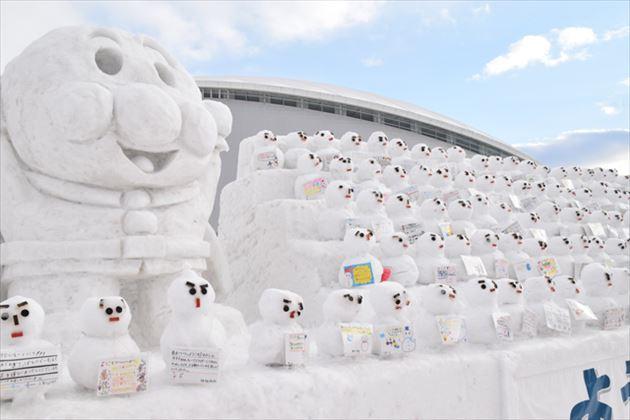 つどーむの雪像