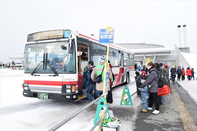 さっぽろ雪まつり つどーむ会場 シャトルバス