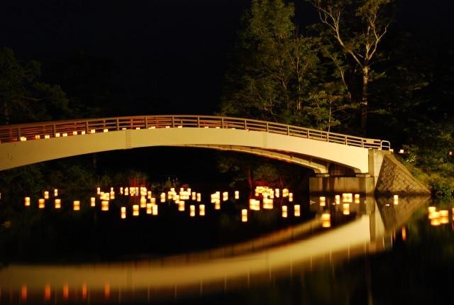大沼湖水祭り・灯ろう流し