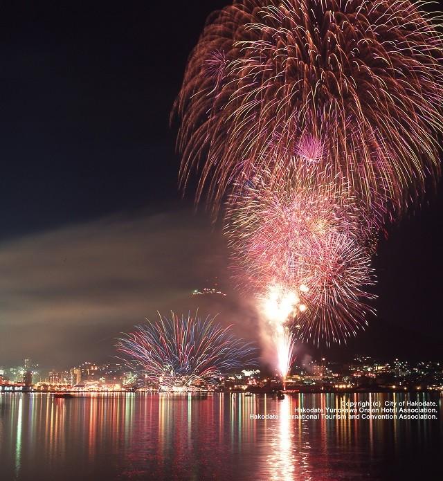 Hakodate Port Festival fireworks