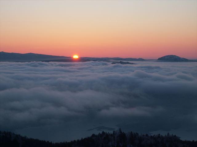 美幌峠の夕日
