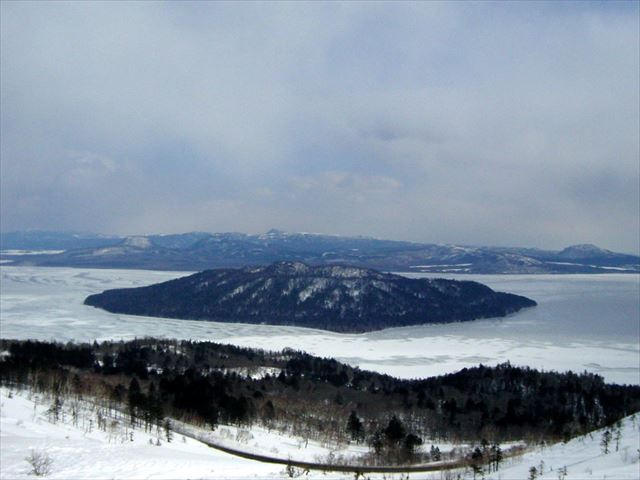 美幌峠の冬