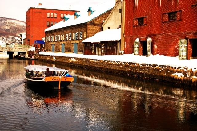 冬の小樽運河 イメージ